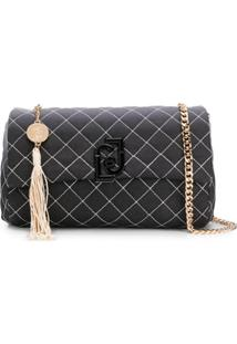 Liu Jo Logo Quilted Shoulder Bag - Preto