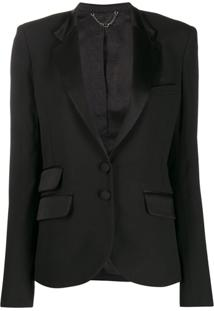 Paco Rabanne Fitted Single-Breasted Blazer - Preto