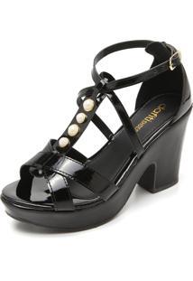 Sandália Dafiti Shoes Pérolas Preta