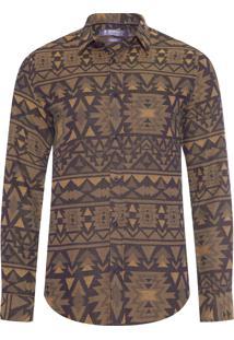 Camisa Masculina Etnic Gold - Verde