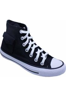 Tênis Converse All Star Chuck Taylor Pocket Hi Preto Ct13120001