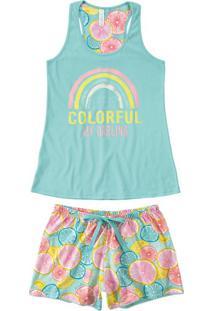 Pijama Curto Nadador Colorful Malwee Liberta