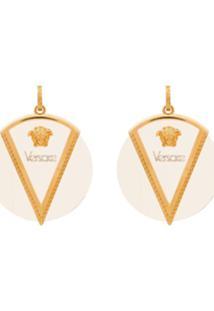 Versace Par De Brincos 'Triangle' - Dourado