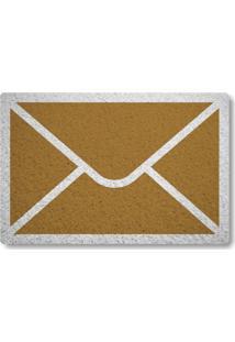 Tapete Capacho Envelope De Carta - Ouro