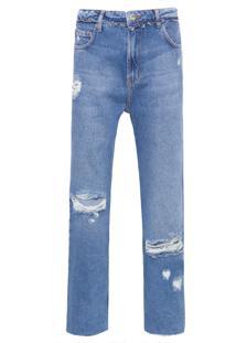 Calça Feminina Jeans New Boyfriend - Azul