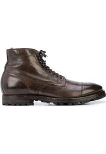 Officine Creative Ankle Boot Com Cadarço - Marrom