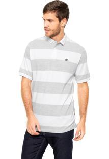 Camisa Polo Timberland Listras Branca