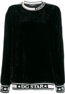 Dolce & Gabbana Blusa De Moletom 'Dg Star' - Preto