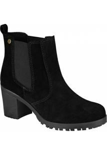 Bota Barth Shoes Bury Tratorada Feminina - Feminino-Preto
