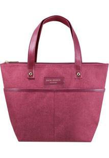 Bolsa Shopper Com Bolsos- Bordô- 23,5X33X23,5Cm-Jacki Design