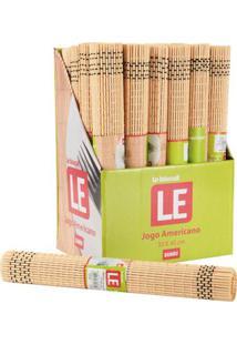 Jogo Americano Le Mescla Bambu Marrom 30X45Cm 1 Peça