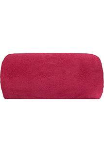 Cobertor Microfibra Liso 180G Solteiro 150X220 Vermelho Camesa