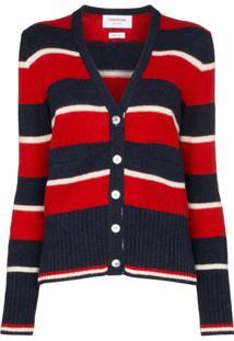Thom Browne Striped Button-Front Cardigan - Estampado