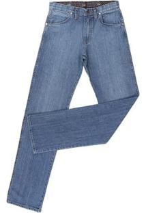 Calça Jeans Cowboy Cut Wrangler Masculina - Masculino-Azul Claro