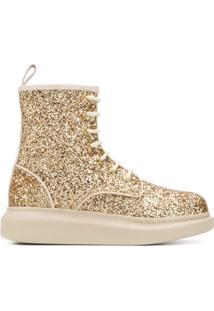 Alexander Mcqueen Ankle Boot Hybrid - Dourado