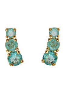 Brinco Dourado Ania Store Catherine Azul