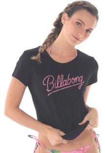 Camiseta Billabong Dream Flower Black - Feminino