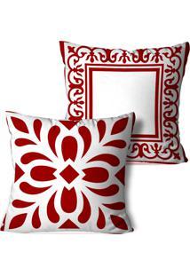 Kit 2 Capas Para Almofadas Decorativos Ornamentos Marsala 45X45Cm - Multicolorido - Dafiti