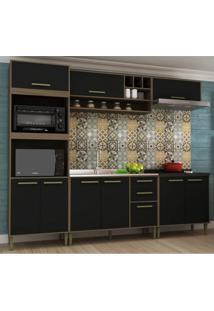 Cozinha Completa 5 Peças 9 Portas Vitória Siena Móveis