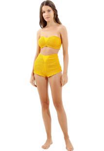 058b8f038 Biquíni Aberto Plus Size feminino. Biquini Bobô Vintage Yellow Beachwear  Amarelo Feminino (Amarelo Medio, Gg)