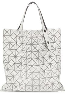 Issey Miyake Bolsa Tote Lucent Geométrica - Branco