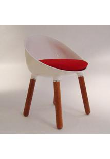 Cadeira Simbiose Fibra De Vidro E Madeira Maciça Clássica Design By Studio Nó Design