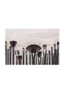 Painel Adesivo De Parede - Pincéis - Maquiagem - 973Pnp