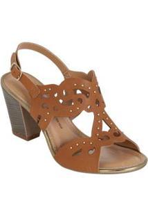 Sandália Dakota Caramelo Em Corte A Laser