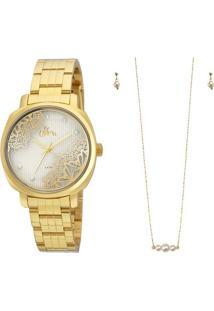 e0387536ee ... Kit Relógio Allora Al2035Fgi K4K - Feminino-Dourado