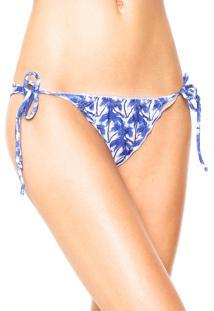 Calcinha Fiveblu String Marina Branca/Azul