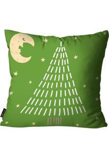 Capa Para Almofada Mdecore Natal Arvore Verde De Natal Verde 45X45Cm