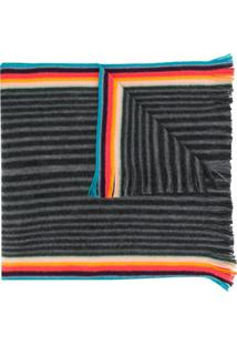 Paul Smith Cachecol Listrado - Cinza