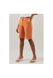 Bermuda Mx Fashion De Sarja Flaviane Laranja