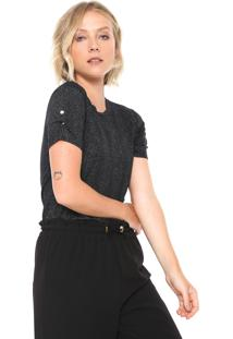 Camiseta Lunender Glitter Preta