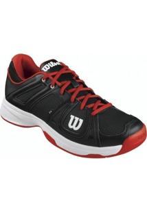 Tênis Team Masculino Preto/Vermelho/Branco 40 - Wilson