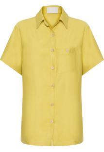 Camisa Feminina Linen Alfaiataria - Verde