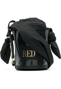Red(V) Bolsa Bucket Com Estampa Point D'Esprit - Preto