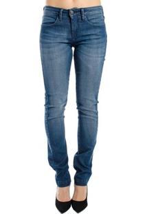 Calça Jeans Reta Clássica Calvin Klein Feminina - Feminino-Azul