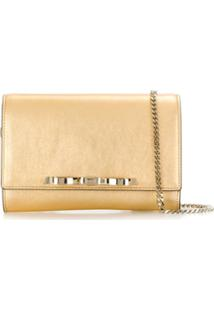 Redvalentino Red(V) Bow Detail Crossbody Bag - Dourado