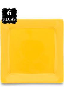 Conjunto Pratos Sobremesa Oxford 6Pçs Mail Order Nara Yellow Amarelo