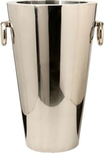 Vaso Decorativo De Aço Inox Lowell Grande