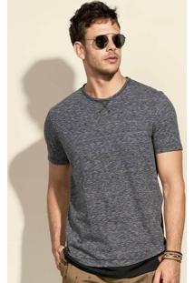 Camiseta Masculina Com Modelagem Alongada Em Malha De Algodão