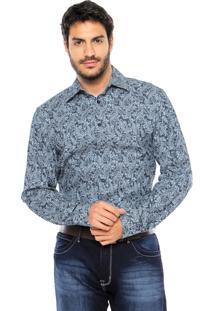 Camisa Forum Arabescos Azul