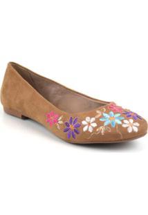 Sapatilha Emporionaka Flores Feminina - Feminino-Caramelo