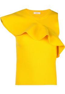 A.L.C. Blusa Com Detalhe De Babado - Amarelo