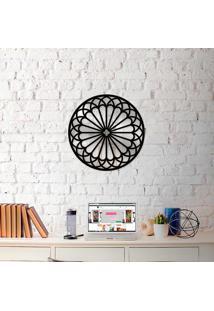 Escultura De Parede Wevans Mandala Formas + Espelho Decorativo