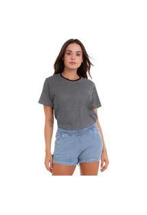 Camiseta Feminina Joss Botonê Listrado