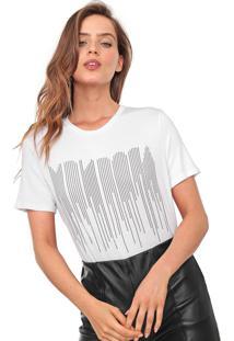 Camiseta Morena Rosa Aplicações Branca - Kanui