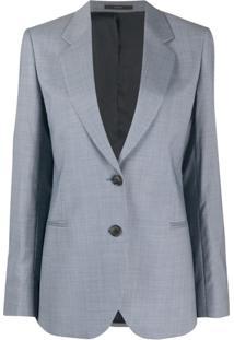 Paul Smith Blazer De Lã Com Abotoamento Simples - Azul