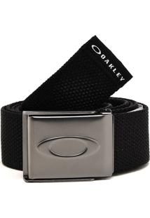 Cinto Oakley Mod Ellipse Web Belt Preto
